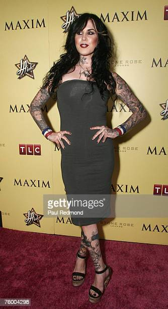 Kat von D attends the LA INK Premiere Party at Stone Rose Lounge at The Sofitel Hotel on August 6 2007 in Los Angeles California