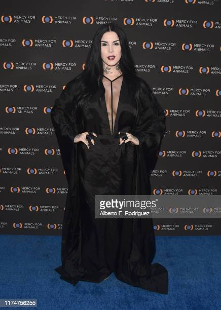 Kat Von D attends the Mercy For Animals 20th Anniversary Gala at The Shrine Auditorium on September 14 2019 in Los Angeles California
