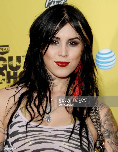 Kat Von D during First Annual Spike TV's Guys Choice Arrivals at Radford Studios in Studio City California United States