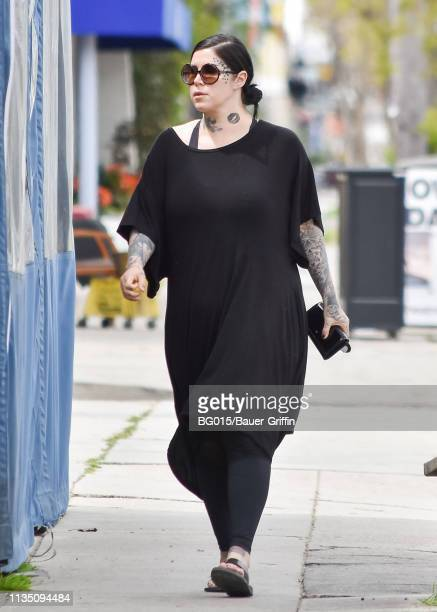 Kat Von D is seen on April 05, 2019 in Los Angeles, California.