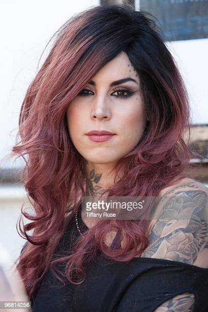 Kat Von D of LA Ink attends the 2nd Annual Golden Gods Awards Nominees and Press Conference at The Rainbow Bar and Grill on February 17 2010 in Los...