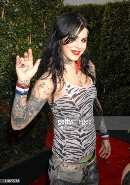 Kat Von D of Miami Ink during First Annual Spike TV's Guys Choice Red Carpet at Radford Studios in Los Angeles California United States