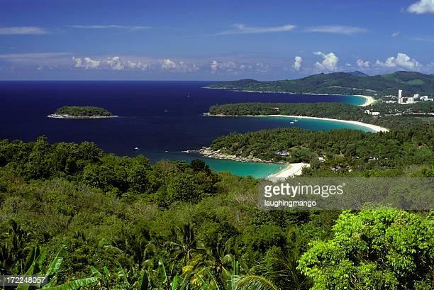 kata カロンビーチ(karon beach )のタイのプーケット島の景観