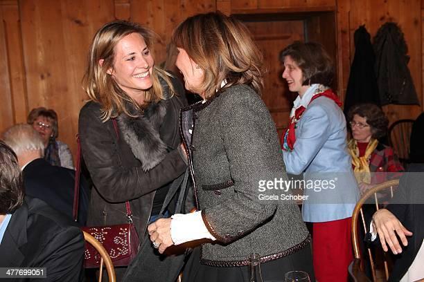 Katalin von Wrede and princess Ursula von Bayern attend the reading of the Wolfgang Bosbach biography 'Jetzt erst Recht' at Hotel Bayerischer Hof on...