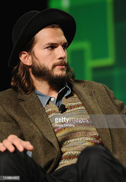 Katalyst Films CoFounder and angel investor Ashton Kutcher speaks onstage at Day 2 of TechCrunch Disrupt SF 2011 held at the San Francisco Design...