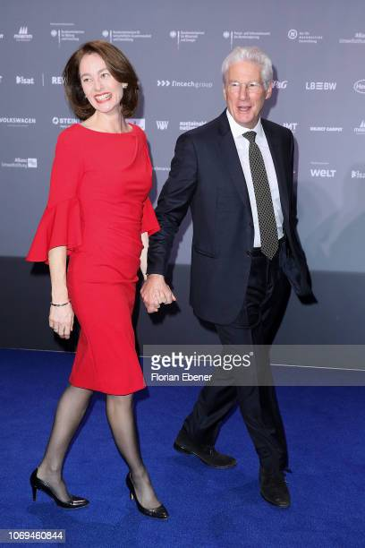 Katarina Barley and Richard Gere attend the German Sustainability Award at Maritim Hotel on December 7 2018 in Duesseldorf Germany