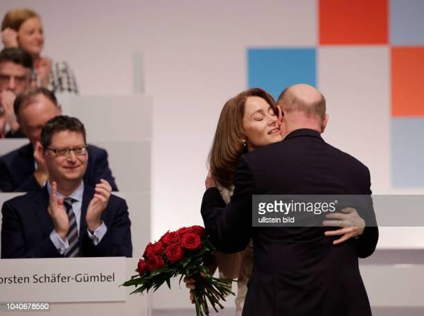 Katarina Barley SPDVorsitzende Martin Schulz Deutschland Berlin Ordentlicher SPDBundesparteitag