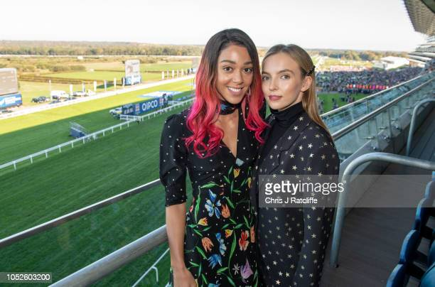 Katarina JohnsonThompson and Jodie Comer attend the QIPCO British Champions Day at Ascot Racecourse on October 20 2018 in Ascot England