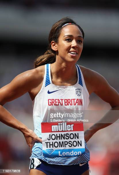 Katarina JohnsonThompson of Great Britain after competing in the Women's 200m during Day One of the Muller Anniversary Games IAAF Diamond League...