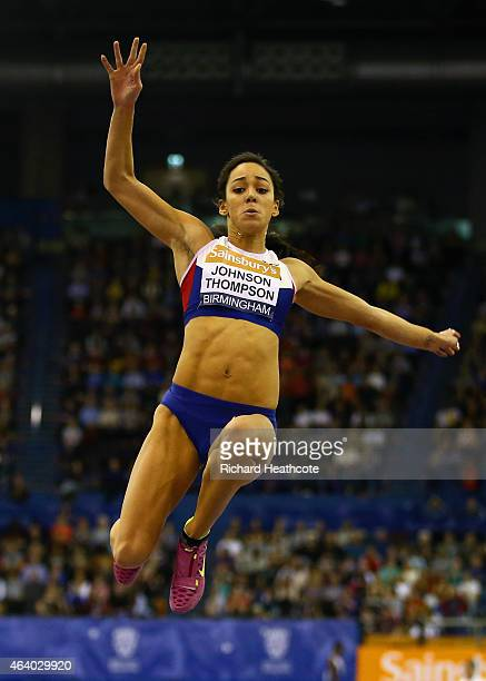 Katarina JohnsonThompson of Great Britain and Northern Ireland competes in the Women's Long Jump final of Great Britain and Northern Ireland competes...