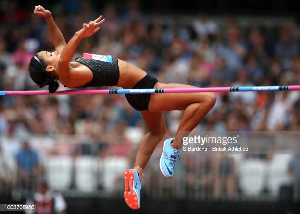 Katarina JohnsonThompson of Great Britain competes in the Women's High Jump during Day Two of the Muller Anniversary Games at London Stadium on July...