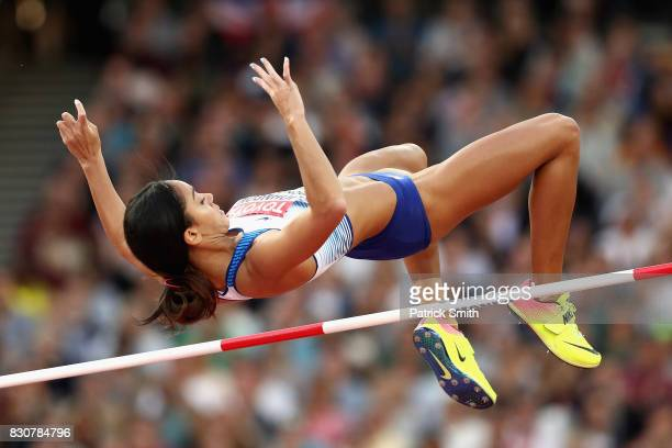 Katarina JohnsonThompson of Great Britain competes in the Women's High Jump final during day nine of the 16th IAAF World Athletics Championships...
