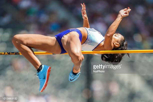 Katarina JohnsonThompson of  Great Britain during high jump Decathlon for women at the Olympic Stadium in Berlin at the European Athletics...