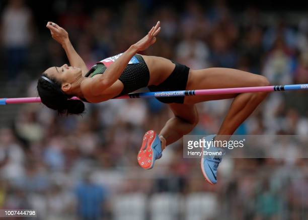 Katarina Johnson-Thompson of Great Britain during the Muller Anniversary Games at London Stadium on July 22, 2018 in London, England.