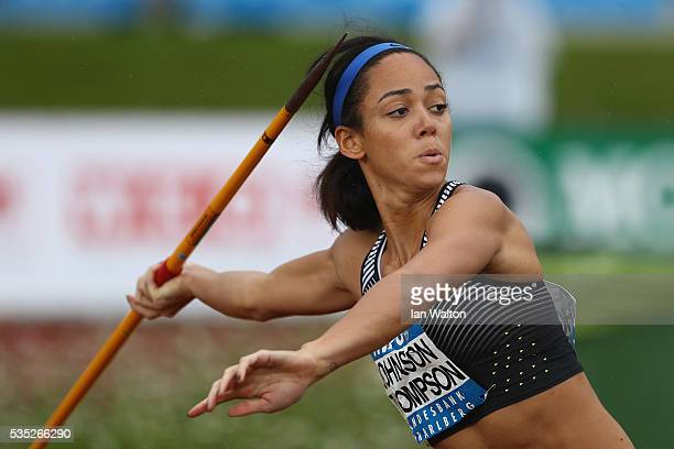 Katarina JohnsonThompson of Great Britain in action in the Women's Heptathlon javelin during the Hypomeeting Gotzis 2016 at the Mosle Stadiom on May...