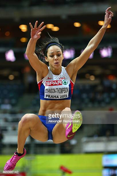 Katarina JohnsonThompson of Great Britain Northen Ireland competes Long Jump in the Women's Pentathlon Shot Put during day one of the 2015 European...
