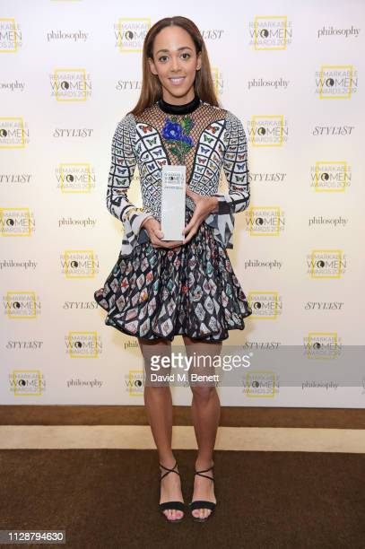 Katarina JohnsonThompson winner of the Sports Star of the Year Award attends Stylist's inaugural Remarkable Women Awards in partnership with...