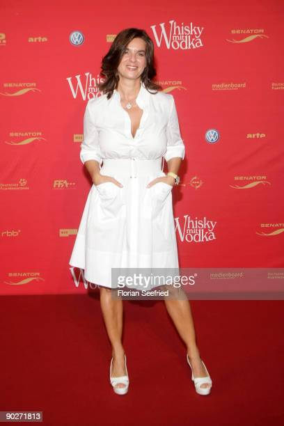 Katarina 'Kati' Witt attends the premiere of 'Whisky mit Wodka' at cinema International on September 1 2009 in Berlin Germany