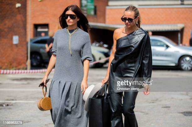 Katarina Petrovic and Celine Aagaard seen outside By Malene Birger during Copenhagen Fashion Week Spring/Summer 2020 on August 08 2019 in Copenhagen...
