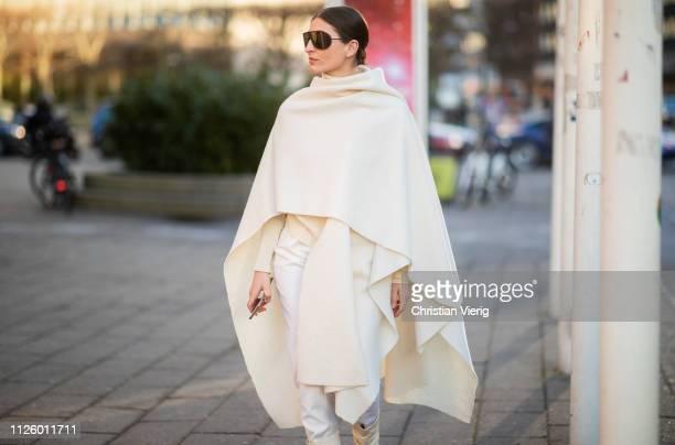 Katarina Petrovic is seen outside Blanche during the Copenhagen Fashion Week Autumn/Winter 2019 - Day 1 on January 29, 2019 in Copenhagen, Denmark.