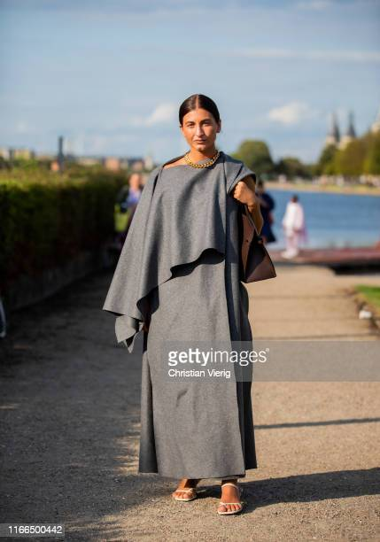 Katarina Petrovic is seen outside MUF10 during Copenhagen Fashion Week Spring/Summer 2020 on August 06, 2019 in Copenhagen, Denmark.