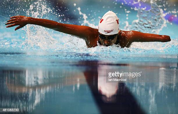 Katarina Roxon of Canada competes in the heats of the Women's 100m Butterfly S9 during Day Five of The IPC Swimming World Championships at Tollcross...