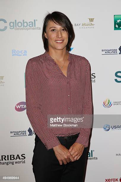 Katarina Srebotnik attends Singapore Tennis Evening during BNP Paribas WTA Finals at Marina Bay Sands on October 30 2015 in Singapore