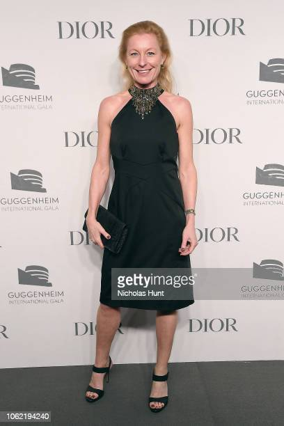 Katarina Swanstrom attends the Guggenheim International Gala Dinner made possible by Dior at Solomon R Guggenheim Museum on November 15 2018 in New...