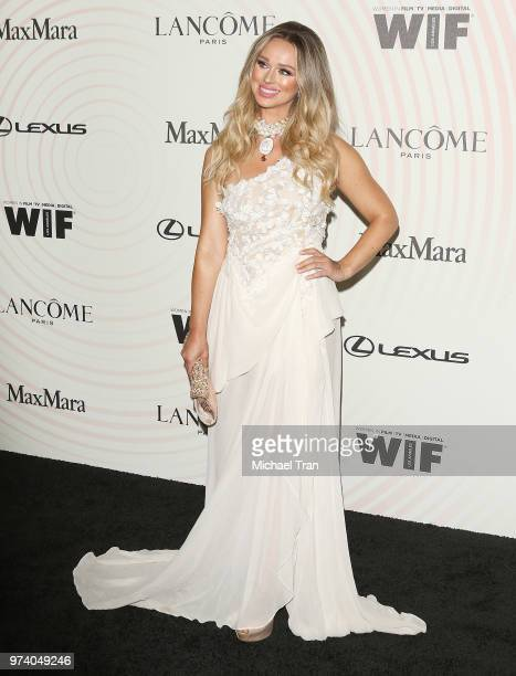 Katarina Van Derham attends the Women In Film 2018 Crystal Lucy Awards held at The Beverly Hilton Hotel on June 13 2018 in Beverly Hills California