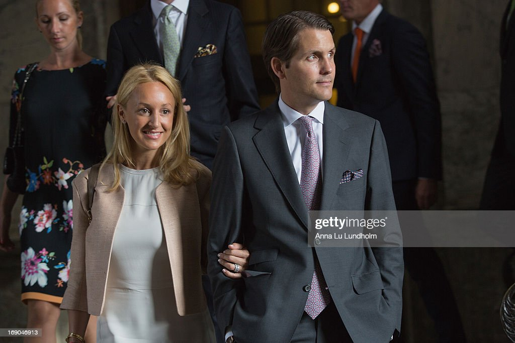 Katarina von Horn and Robert von Horn visit the wedding preparations for H.K.H. Princess Madeleine and Mr. Christopher O'Niell on May 19, 2013 in Stockholm, Sweden.