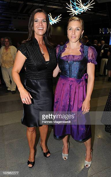 Katarina Witt and Anni FriesingerPostma attend the Bavarian Sport Award 2010 at the International Congress Center Munich on July 17 2010 in Munich...