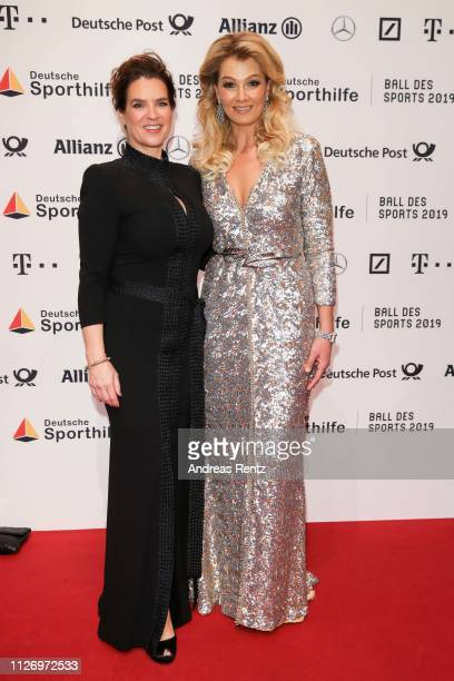 Katarina Witt and Franziska van Almsick attend Ball des Sports 2019 Gala at RheinMain CongressCenter on February 02 2019 in Wiesbaden Germany