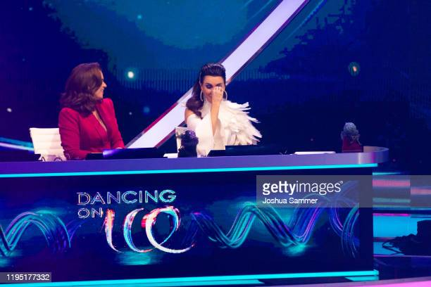 Katarina Witt and Judith Williams during the finals of the television show Dancing On Ice on December 20 2019 in Cologne Germany