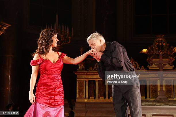Katarina Witt And Rüdiger Joswig In The 'everyone' Premiere In Berlin Cathedral in Berlin