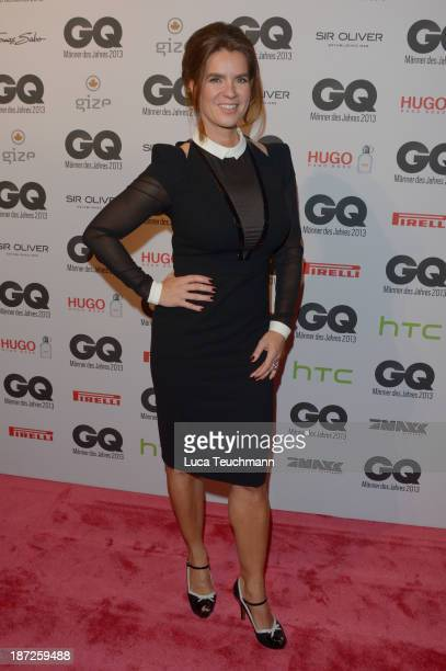 Katarina Witt arrives at the GQ Men of the Year Award at Komische Oper on November 7 2013 in Berlin Germany