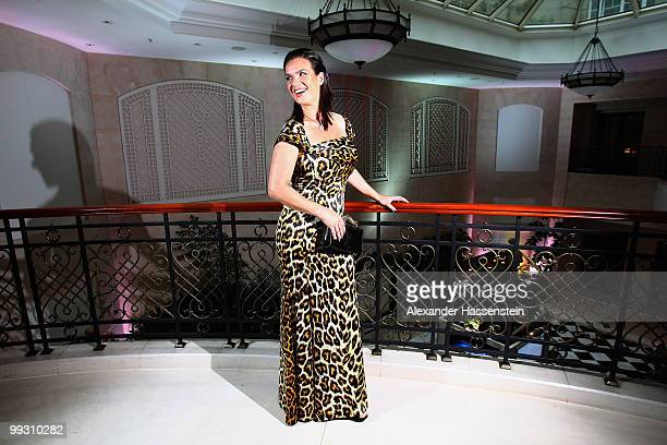 Katarina Witt arrives for the Goldene Sportpyramide Award at the Adlon Hotel on May 14, 2010 in Berlin, Germany.