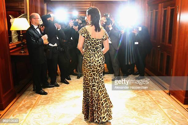 Katarina Witt arrives for the Goldene Sportpyramide Award at the Adlon Hotel on May 14 2010 in Berlin Germany