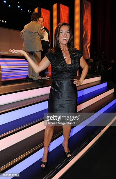 Katarina Witt attend the Bavarian Sport Award 2010 at the International Congress Center Munich on July 17 2010 in Munich Germany