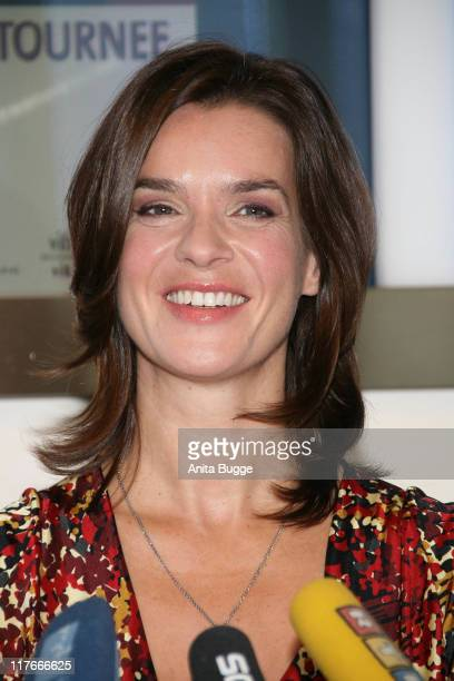 Katarina Witt attends a press conference promoting her farewell tour 2008 on October 22 2007 in Berlin Germany