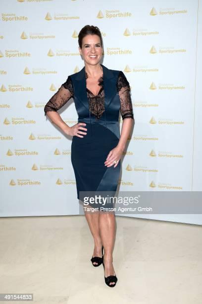 Katarina Witt attends the awarding of the 'Goldene Sportpyramide 2014' at Hotel Adlon on May 16 2014 in Berlin Germany