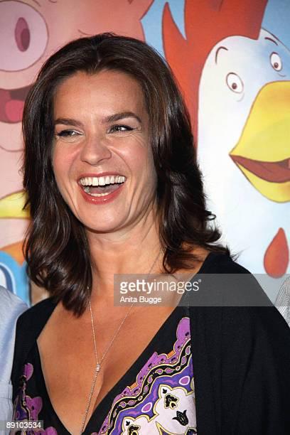 Katarina Witt attends the Berlin premiere of 'Mullewapp' on July 19, 2009 in Berlin, Germany.
