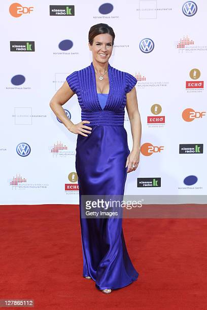 Katarina Witt attends the Echo Klassik 2011 award ceremony at Konzerthaus am Gendarmenmarkt on October 2, 2011 in Berlin, Germany.