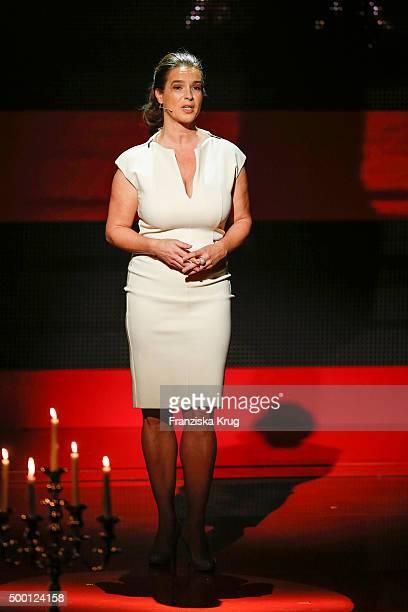 Katarina Witt attends the Ein Herz Fuer Kinder Gala 2015 show at Tempelhof Airport on December 5 2015 in Berlin Germany