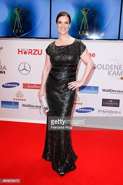 Katarina Witt attends the Goldene Kamera 2015 on February 27 2015 in Hamburg Germany