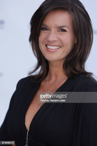 Katarina Witt attends the Laureus Charity Gala at the Mercedes Benz branch on July 7 2008 in Stuttgart Germany