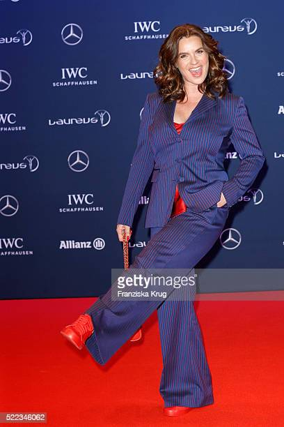 Katarina Witt attends the Laureus World Sports Awards 2016 at the Messe Berlin on April 18 2016 in Berlin Germany