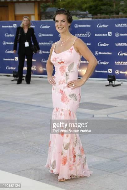 Katarina Witt during 2003 Laureus World Sports Awards Arrivals at Grimaldi Forum in Monte Carlo Monaco