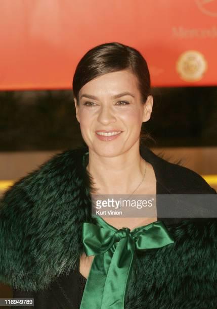 Katarina Witt during 40th Annual Goldene Kamera Outside Arrivals at Axel Springer House in Berlin Germany