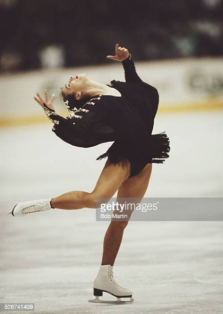 Katarina Witt of East Germany during the ISU World Figure Skating Championships on 14 March 1987 in Cincinnati Ohio United States