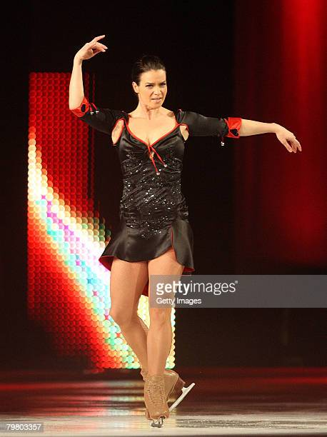 Katarina Witt performs on the ice during the first show of Katarina Witt's farewell tour on February 16, 2008 in Berlin, Germany. The most successful...